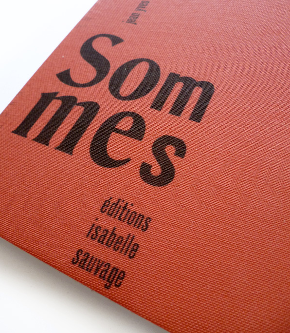Sommes Edition Isabelle Sauvage